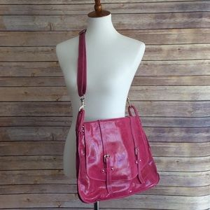 Italian leather pink messenger bag New💖
